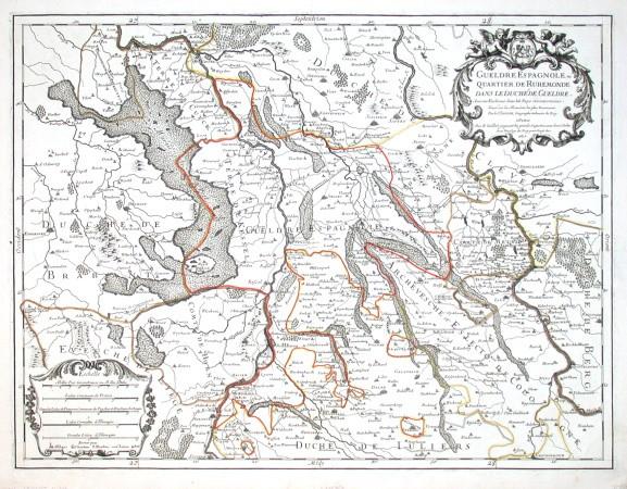 Gueldre Espagnole - Alte Landkarte