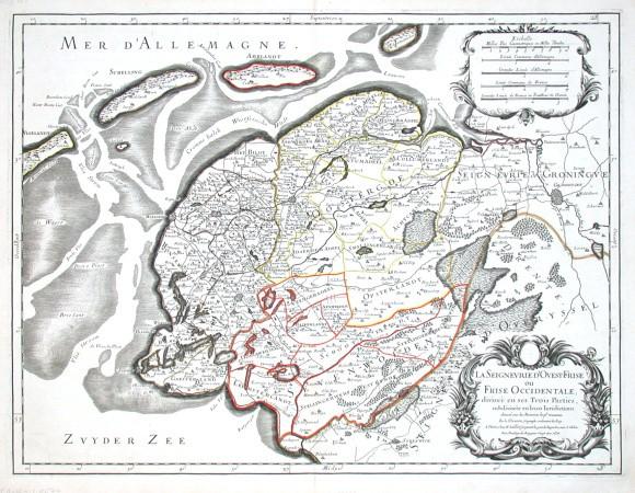 La Seignevrie d'Ovest-Frise ou Frise Occidentale - Alte Landkarte