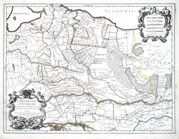 La Seigneurie d'Vtrecht - Alte Landkarte