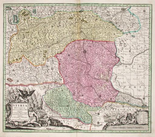 Stiria Ducatus - Antique map