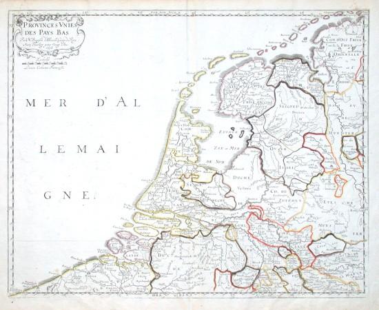 Provinces Vnies des Pays Bas - Alte Landkarte