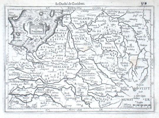 Geldria et Transisulana - Alte Landkarte