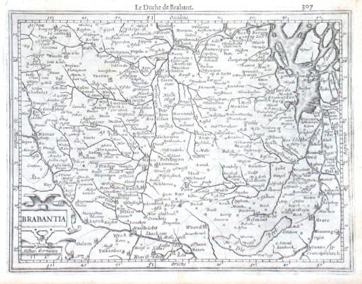 Brabantia - Alte Landkarte