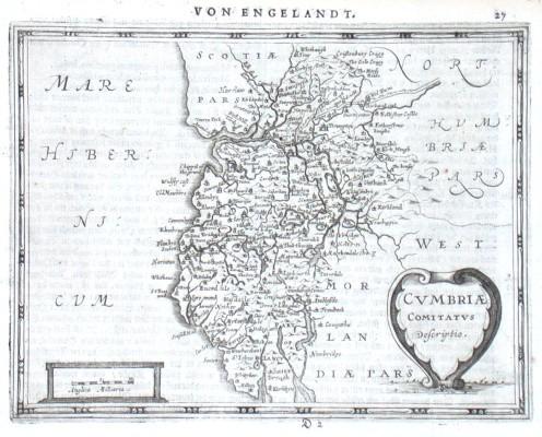 Cvmbriae Comitatvs Descriptio - Stará mapa
