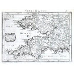 Cornubia, Devonia, Somersetus