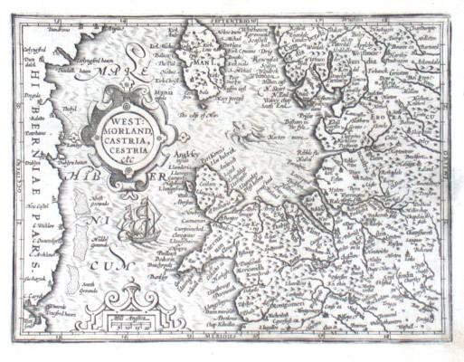 Westmorland, Castria, Cestria etc - Alte Landkarte