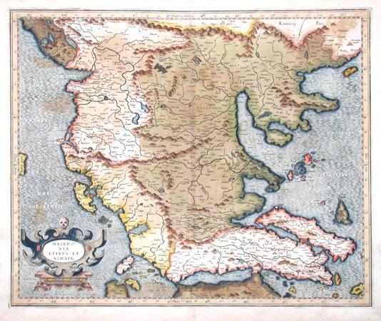 Macedonia, Epirvs et Achaia - Stará mapa