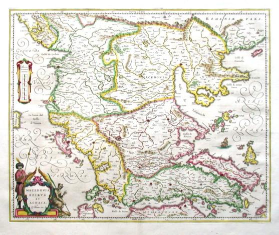 Macedonia, Epirvs et Achaia - Alte Landkarte