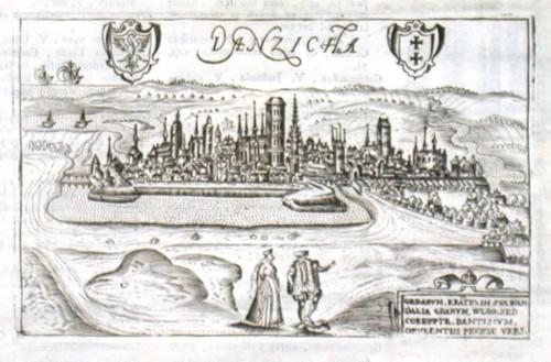 Danzicha - Alte Landkarte