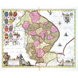 Lincolnia Comitatvs Anglis Lyncolne Shire