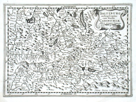 Saltzburg archiepiscopatus cum ducatu Carinthiae - Stará mapa
