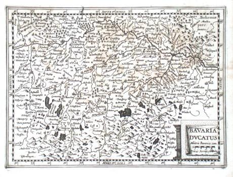 Bavaria Dvcatus - Alte Landkarte