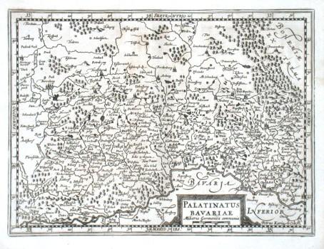 Palatinatus Bavariae - Alte Landkarte