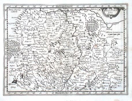 Palatinatus Rheni - Alte Landkarte