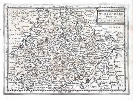 Wirtenberg Ducatus - Stará mapa
