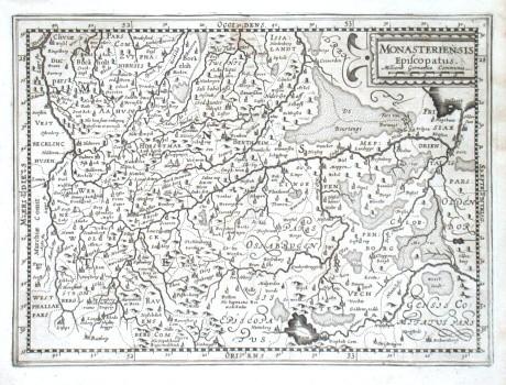 Monasteriensis Episcopatus - Stará mapa