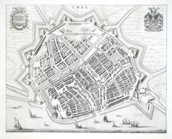 Emda - Antique map