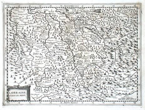 Lorraine vers le midy - Stará mapa