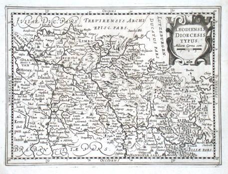 Loediensis Dioecesis typus - Alte Landkarte