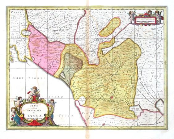Stato della Repvblica di Lvcca - Alte Landkarte