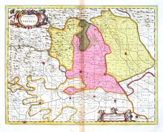 Signoria di Vercelli - Alte Landkarte