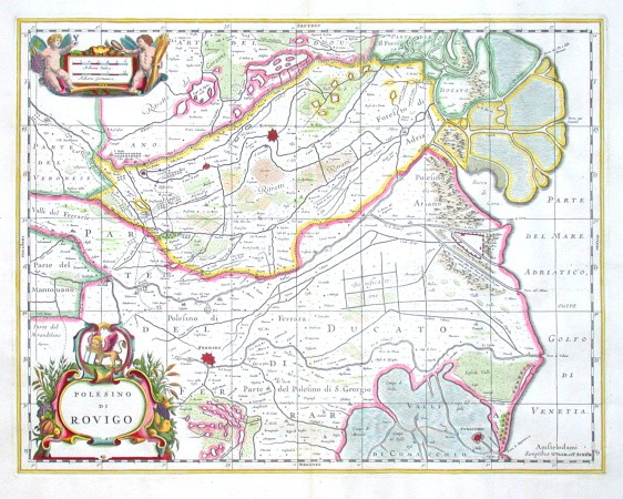 Polesino di Rovigo - Antique map