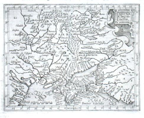 Taurica Chersonesus - Alte Landkarte