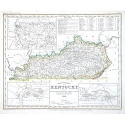 Neueste Karte von Kentucky