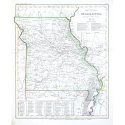 Neueste Karte von Missouri