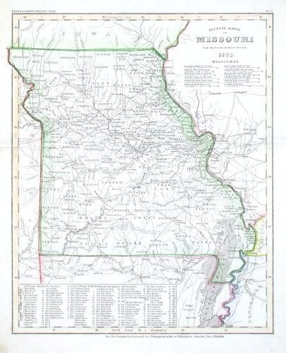 Neueste Karte von Missouri - Stará mapa