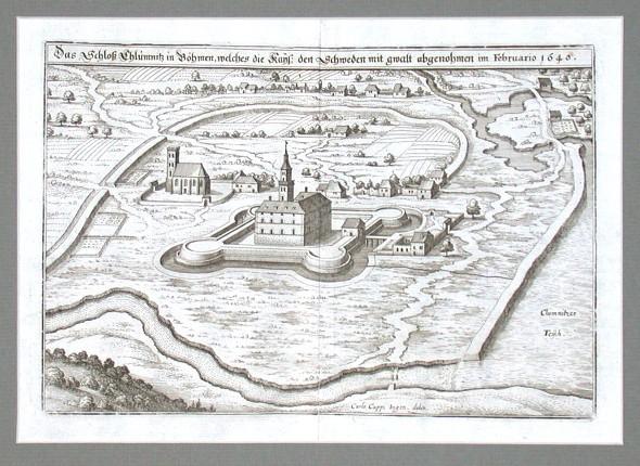 Das Schloß Chlumnitz in Böhmen