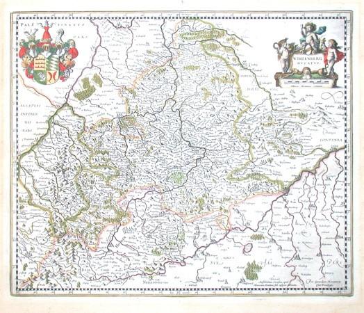 Wirtenberg Dvcatvs - Alte Landkarte