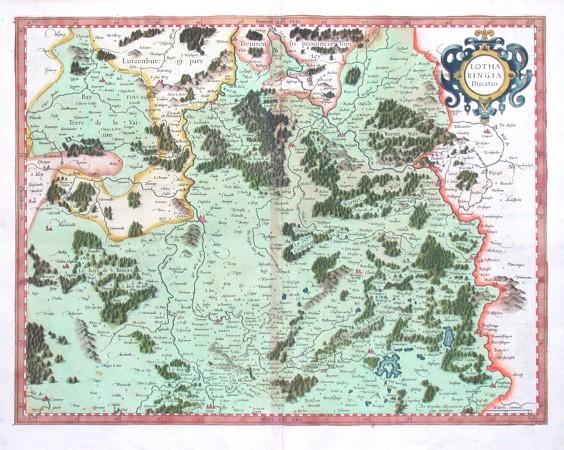 Lotharingia Ducatus - Alte Landkarte