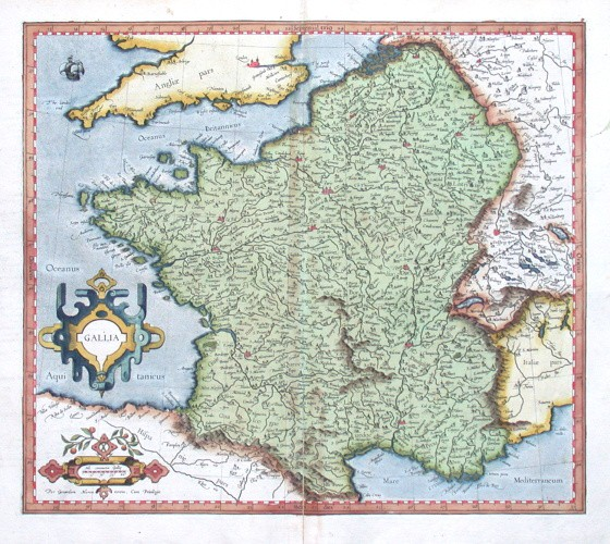 Gallia - Alte Landkarte