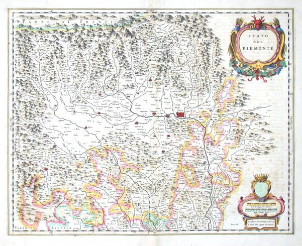 Stato del Piemonte - Antique map