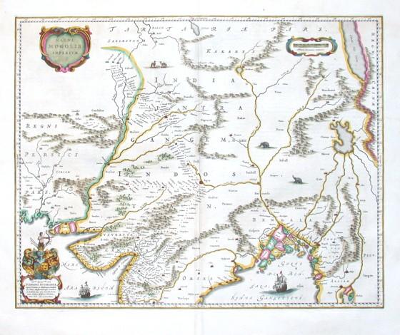 Magni Mogolis Imperivm - Alte Landkarte