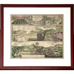 Grundriss und prospect des Welt- beühmten Carlsbad, mit unteschiedlichen Gegenden accurat gezeichnet und ausgefertiget von
