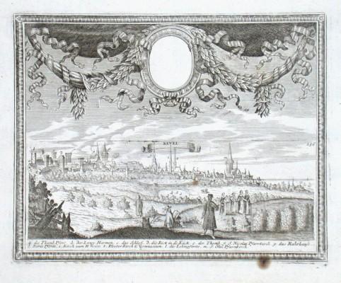 Tallinn - Revel - Alte Landkarte