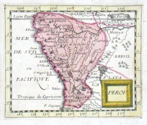 Perov - Alte Landkarte