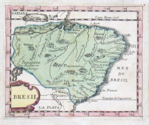Bresil - Stará mapa