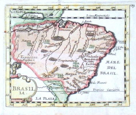 Brasilia - Alte Landkarte