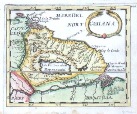Gvaiana - Alte Landkarte