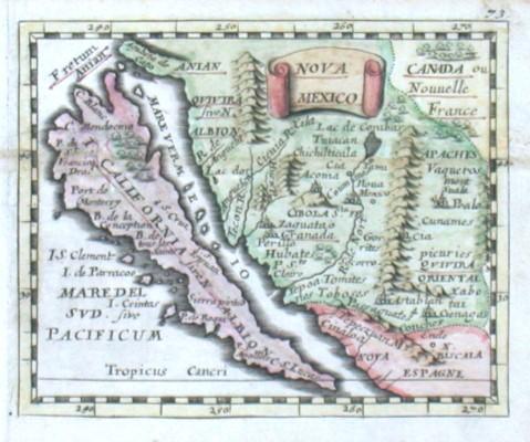 Nova Mexico - Stará mapa