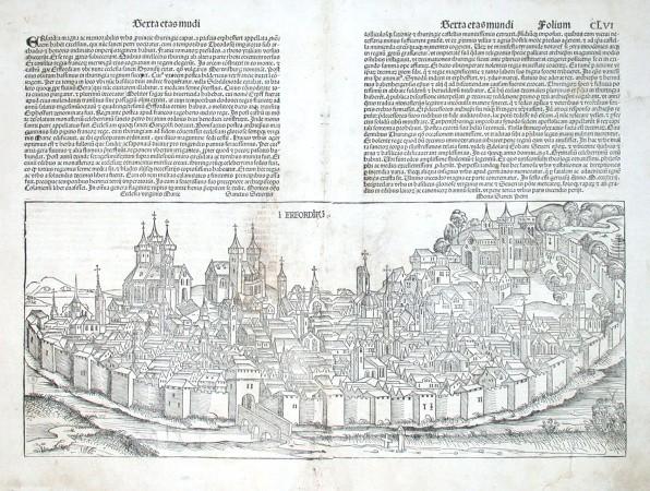 Erfordia - Stará mapa