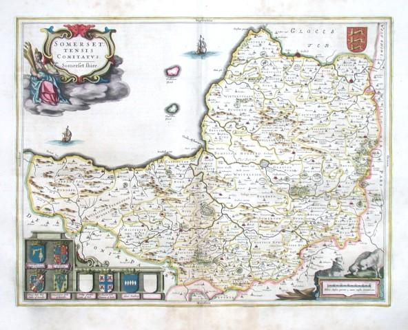 Somersettensis Comitatvs. Somerset shire - Stará mapa