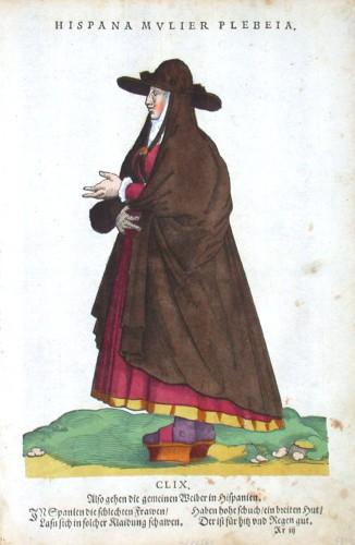 Hispana Mvlier Plebeia - Alte Landkarte