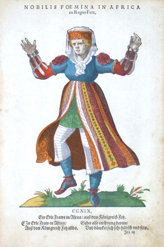 Nobilis Foemina in Africa ex Regno Fetz - Alte Landkarte