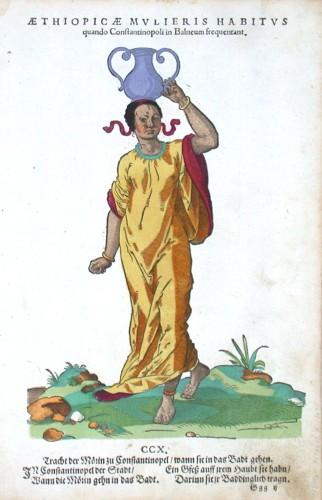 Aethiopicae Mvlieris Habitvs quando Constantinopoli in Balneum frequentant