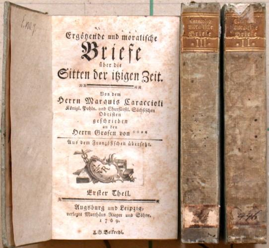 Ergötzende und moralische Briefe über die Sitten der itzigen Zeit