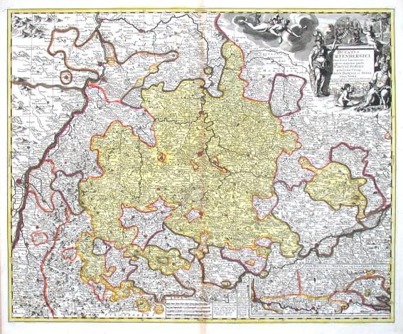Ducatus Würtenbergici - Alte Landkarte
